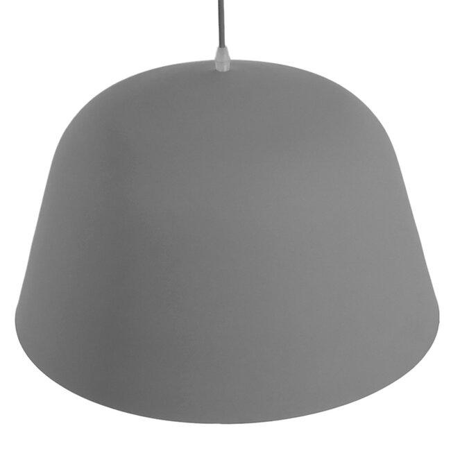 Μοντέρνο Κρεμαστό Φωτιστικό Οροφής Μονόφωτο Γκρί  Μεταλλικό Καμπάνα Φ40  WESTVALE 01282 - 6