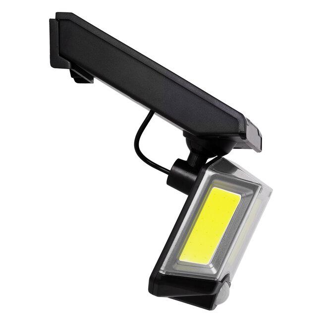 GloboStar® 71482 Αυτόνομος Ηλιακός Προβολέας LED COB 20W 1500lm με Ενσωματωμένη Μπαταρία 2400mAh - Φωτοβολταϊκό Πάνελ με Αισθητήρα Ημέρας-Νύχτας - PIR Αισθητήρα Κίνησης και Ασύρματο Χειριστήριο IR Αδιάβροχο IP65 Ψυχρό Λευκό 6000K - 6