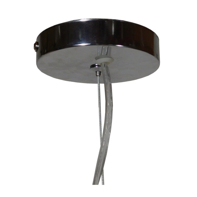 Vintage Industrial Κρεμαστό Φωτιστικό Οροφής Μονόφωτο Μπεζ Μεταλλικό Πλέγμα Φ38  GOBLET LIGHT 01267 - 6