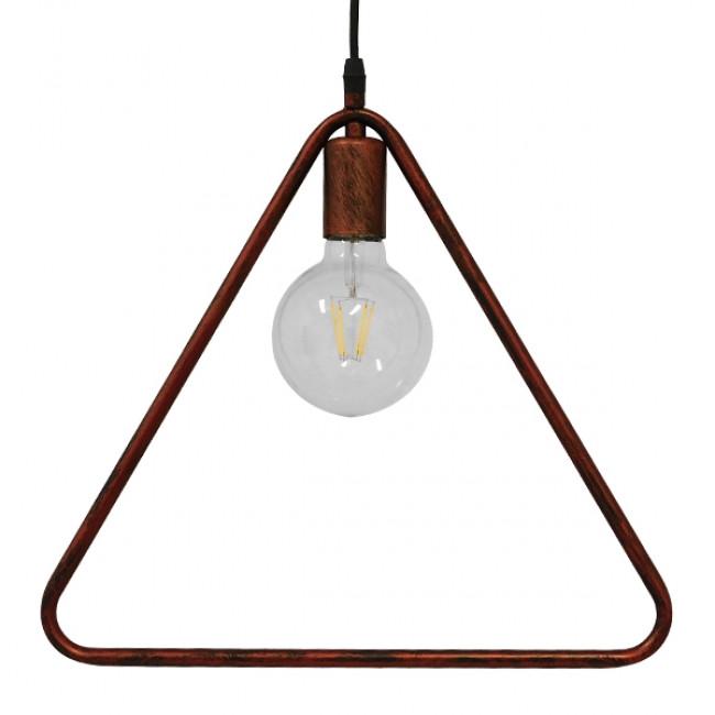 Μοντέρνο Κρεμαστό Φωτιστικό Οροφής Μονόφωτο Καφέ Σκουριά Μεταλλικό  DELTA IRON RUST 01581 - 4