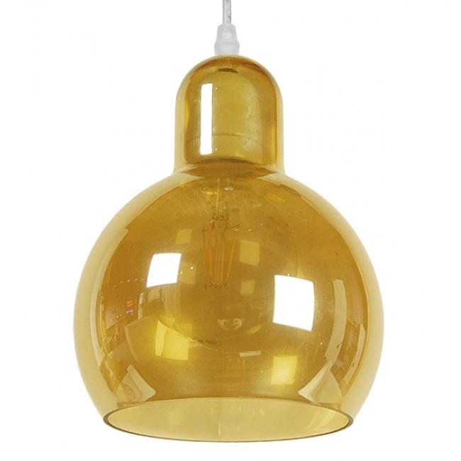Μοντέρνο Κρεμαστό Φωτιστικό Οροφής Μονόφωτο Γυάλινο Μελί Διάφανο Φ18 GloboStar LUNATICA 01315