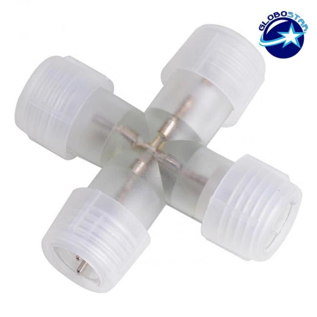 Σταυρός + Connector IP68 για Φωτοσωλήνα LED GloboStar 22638 - 1