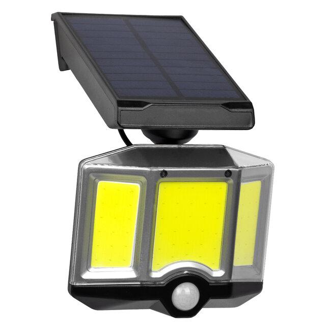 GloboStar® 71482 Αυτόνομος Ηλιακός Προβολέας LED COB 20W 1500lm με Ενσωματωμένη Μπαταρία 2400mAh - Φωτοβολταϊκό Πάνελ με Αισθητήρα Ημέρας-Νύχτας - PIR Αισθητήρα Κίνησης και Ασύρματο Χειριστήριο IR Αδιάβροχο IP65 Ψυχρό Λευκό 6000K - 3