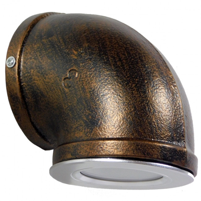 Vintage Industrial Φωτιστικό Τοίχου Απλίκα Μονόφωτο LED Μαύρο Σκουριά Μεταλλικό Φ11 GloboStar ANTHY 01104