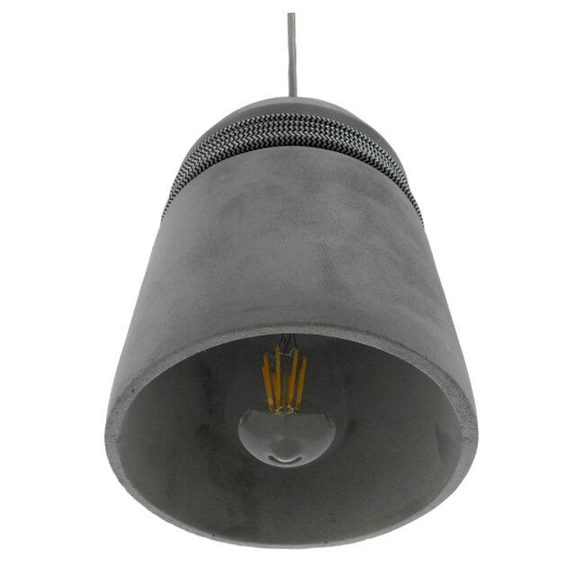 Μοντέρνο Industrial Κρεμαστό Φωτιστικό Οροφής Μονόφωτο Γκρι Τσιμέντο Καμπάνα Φ18  FELINI 01321 - 6