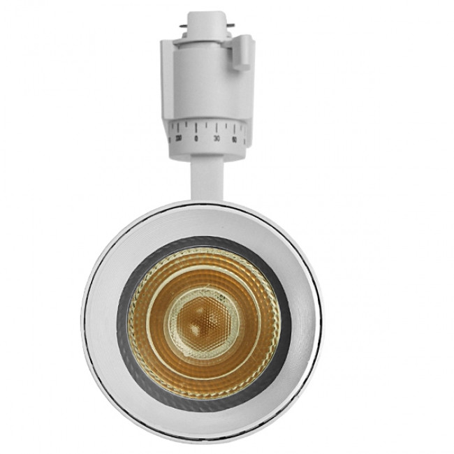 Μονοφασικό Bridgelux COB LED Λευκό Φωτιστικό Σποτ Ράγας 30W 230V 3600lm 30° Θερμό Λευκό 3000k GloboStar 93108 - 3