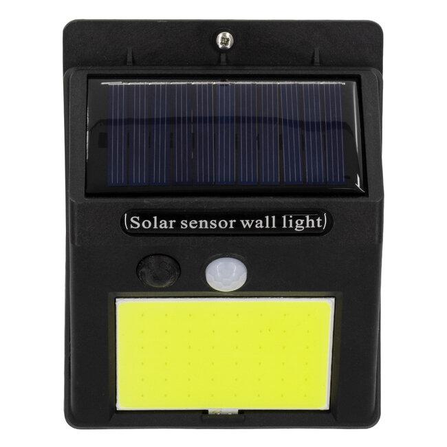 71496 Αυτόνομο Ηλιακό Φωτιστικό LED COB 12W 1200lm με Ενσωματωμένη Μπαταρία 1200mAh - Φωτοβολταϊκό Πάνελ με Αισθητήρα Ημέρας-Νύχτας και PIR Αισθητήρα Κίνησης IP65 Ψυχρό Λευκό 6000K - 5