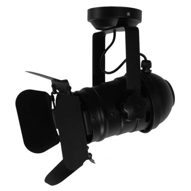Vintage Industrial Φωτιστικό Οροφής Μονόφωτο Μαύρο Μεταλλικό GloboStar DETROIT 01372 - 9