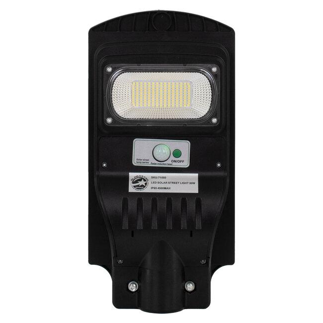 71550 Αυτόνομο Ηλιακό Φωτιστικό Δρόμου Street Light All In One LED SMD 50W 4000lm με Ενσωματωμένη Μπαταρία Li-ion 4500mAh - Φωτοβολταϊκό Πάνελ με Αισθητήρα Ημέρας-Νύχτας PIR Αισθητήρα Κίνησης και Ασύρματο Χειριστήριο RF 2.4Ghz Αδιάβροχο IP - 3