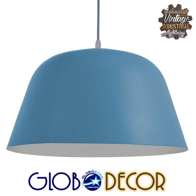 Μοντέρνο Κρεμαστό Φωτιστικό Οροφής Μονόφωτο Μπλε Μεταλλικό Καμπάνα Φ40  DOWNVALE 01286 - 1
