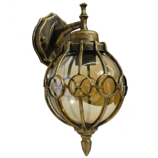 Vintage Φωτιστικό Τοίχου Απλίκα Μονόφωτο Μπρούτζινο Σκουριά Μεταλλικό Πλέγμα GloboStar BRIVELL 01227 - 3