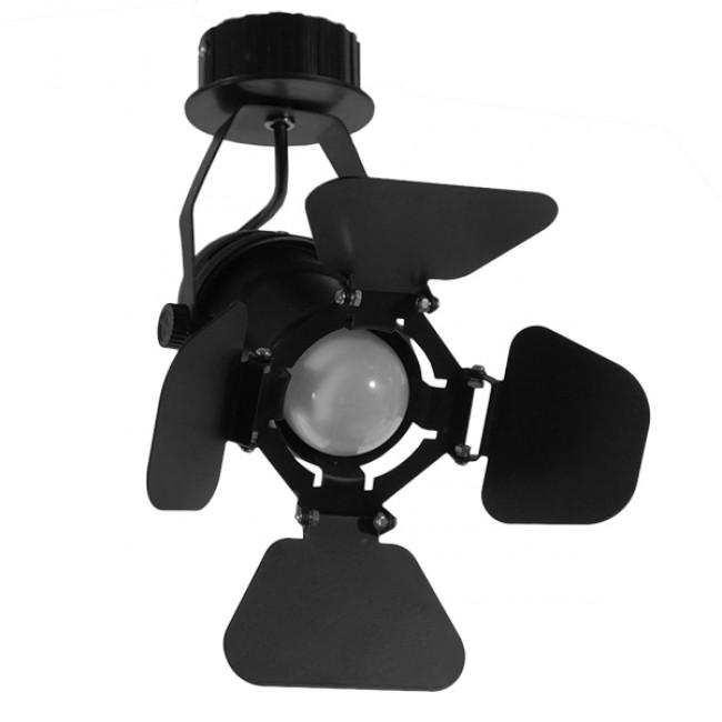 Vintage Industrial Φωτιστικό Οροφής Μονόφωτο Μαύρο Μεταλλικό  CHICAGO 01371 - 4