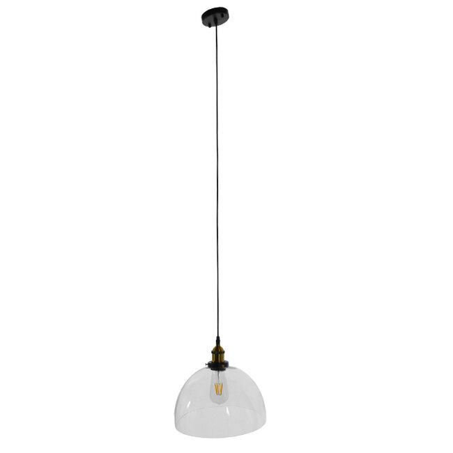 Vintage Κρεμαστό Φωτιστικό Οροφής Μονόφωτο Γυάλινο Καμπάνα Φ30 GloboStar DARCY 01171 - 2