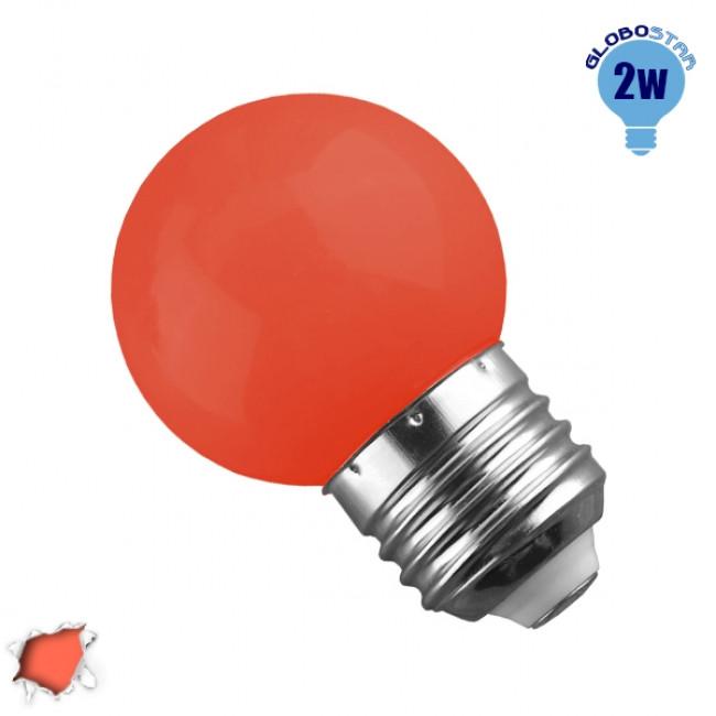 Mini Γλόμπος LED G45 2 Watt Πορτοκαλί Dark GloboStar 64009