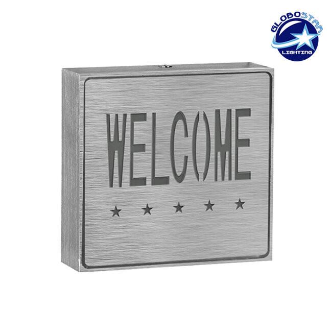 Φωτιστικό LED Σήμανσης Αλουμινίου Welcome GloboStar 75509 - 1