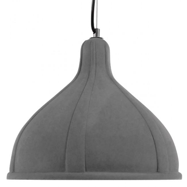 Μοντέρνο Industrial Κρεμαστό Φωτιστικό Οροφής Μονόφωτο Γκρι Τσιμέντο Καμπάνα Φ29 GloboStar GIRARD 01326 - 3