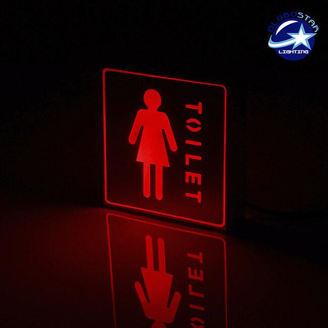 Φωτιστικό LED Σήμανσης Αλουμινίου WC WOMEN GloboStar 75502 - 2