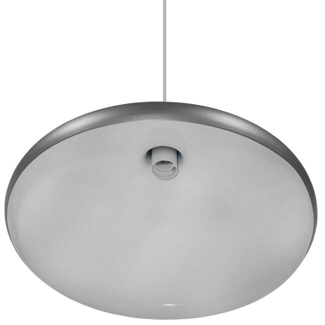 Μοντέρνο Κρεμαστό Φωτιστικό Οροφής Μονόφωτο Ασημί Μεταλλικό Καμπάνα Φ39  FELICITA 01276 - 5