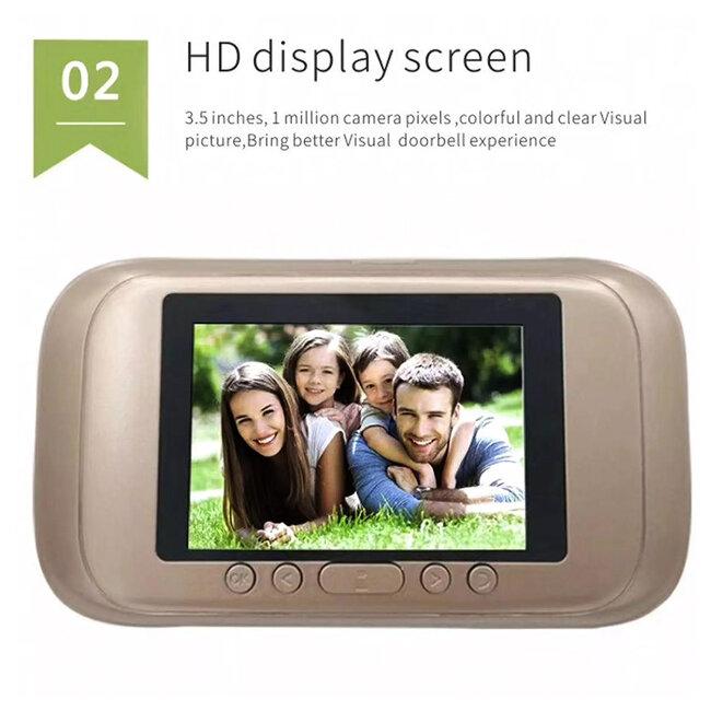 86070 Ψηφιακή Έξυπνη Camera Εξώπορτας 0,3 MP 90° Μοιρών με Έγχρωμη Οθόνη 2.8 - 8