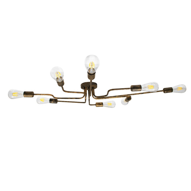 LIBERTA 00841 Μοντέρνο Φωτιστικό Οροφής Πολύφωτο Χάλκινο Σκουριά Μ102 x Π72 x Υ10.5cm - 6