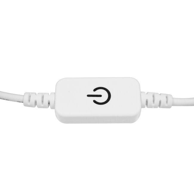 73303 LED Dimmer Αφής με Διακόπτη On/Off Λευκό DC 12-24V Max 120W - 4