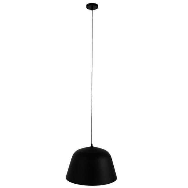 Μοντέρνο Κρεμαστό Φωτιστικό Οροφής Μονόφωτο Μαύρο Μεταλλικό Καμπάνα Φ40  EASTVALE 01281 - 2
