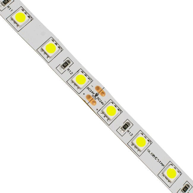 GloboStar® 70220 Ταινία LED SMD 5050 5m 14.4W/m 60LED/m 1728 lm/m 120° DC 24V IP20 Ψυχρό Λευκό 6000K - 5 Χρόνια Εγγύηση - 3
