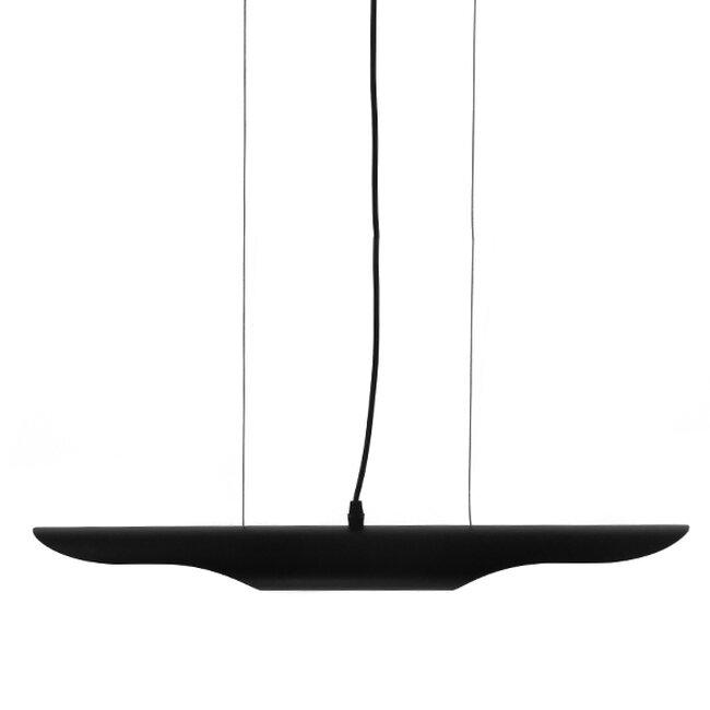 Μοντέρνο Κρεμαστό Φωτιστικό Οροφής Δίφωτο Μαύρο - Χρυσό Μεταλλικό  ESTERINA 01304 - 3