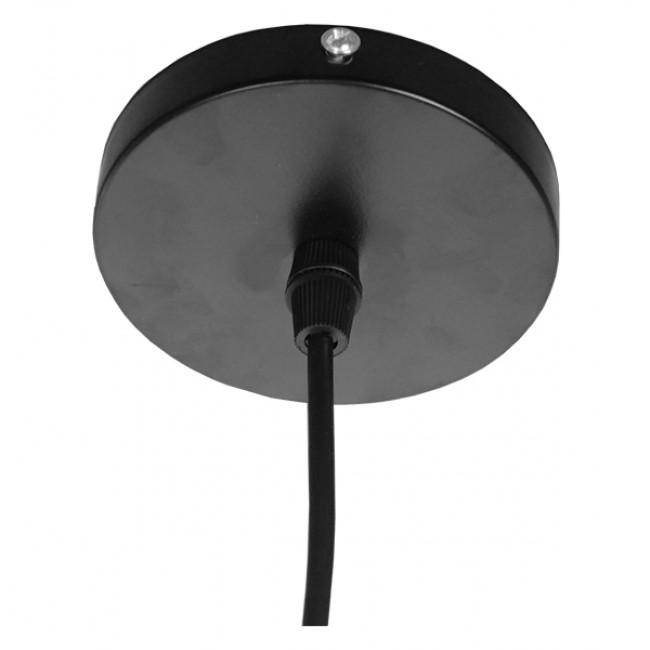 Μοντέρνο Κρεμαστό Φωτιστικό Οροφής Μονόφωτο Μεταλλικό Μαύρο Λευκό Καμπάνα Φ13 GloboStar LINE STARS 01483 - 7