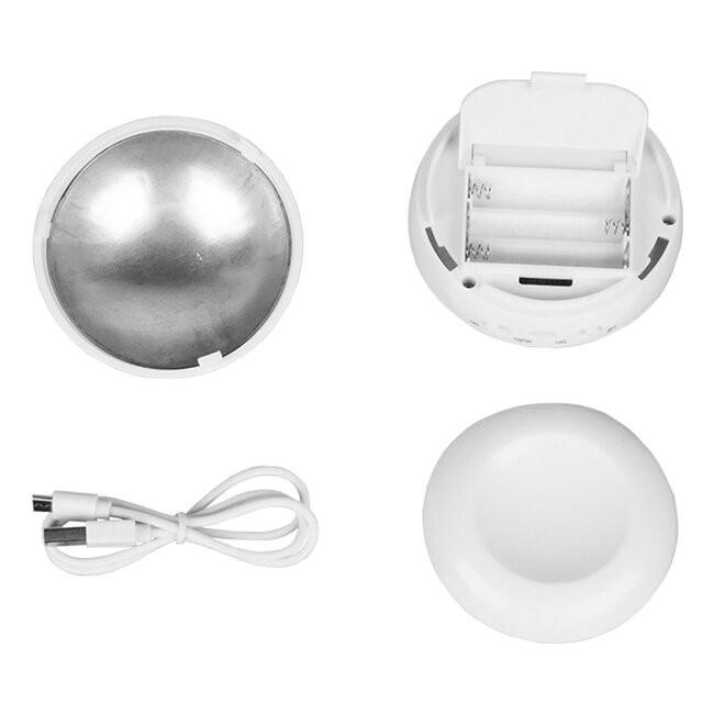 Επαναφορτιζόμενο Φωτιστικό Νυκτός Μπαταρίας LED με Ανιχνευτή Κίνησης και Αισθητήρα Μέρας Νύχτας Ροζ GloboStar 07041 - 4