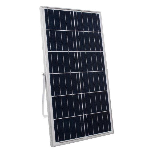 GloboStar® 71558 Αυτόνομος Ηλιακός Προβολέας LED SMD 200W 16000lm με Ενσωματωμένη Μπαταρία 20000mAh - Φωτοβολταϊκό Πάνελ με Αισθητήρα Ημέρας-Νύχτας και Ασύρματο Χειριστήριο RF 2.4Ghz Αδιάβροχος IP66 Ψυχρό Λευκό 6000K - 7