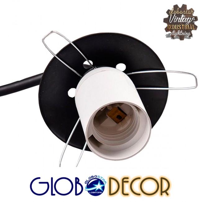 Μοντέρνο Φωτιστικό Οροφής Τρίφωτο Μαύρο Μεταλλικό με Λευκό Γυαλί Φ45 GloboStar LUNA 01087 - 3
