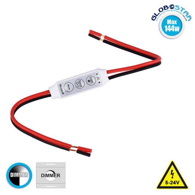 73307 LED Dimmer με Καλώδιο 5-24V Max 144w - 1