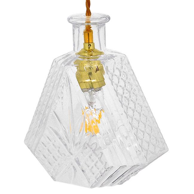 Vintage Κρεμαστό Φωτιστικό Οροφής Μονόφωτο Γυάλινο Διάφανο Φ11  LIQUEUR 01515 - 5