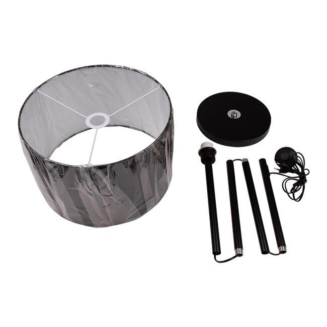 GloboStar® ASHLEY 00822 Μοντέρνο Φωτιστικό Δαπέδου Μονόφωτο Μεταλλικό Μαύρο με Καπέλο Φ35 x Υ145cm - 9