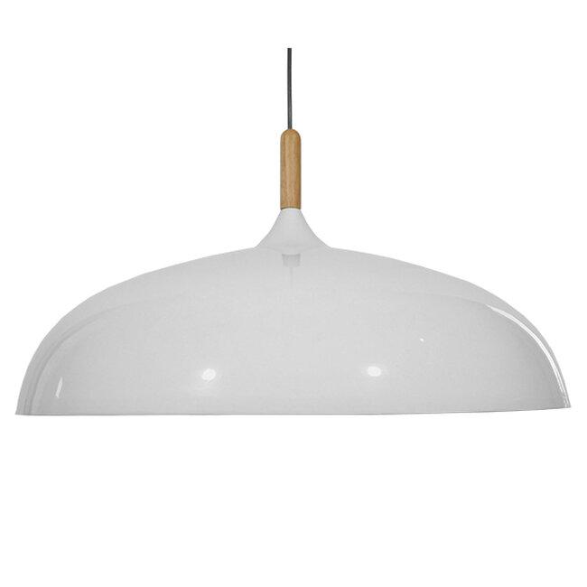 Μοντέρνο Κρεμαστό Φωτιστικό Οροφής Μονόφωτο Λευκό Μεταλλικό Καμπάνα Φ60  VALLETE WHITE 01257 - 3