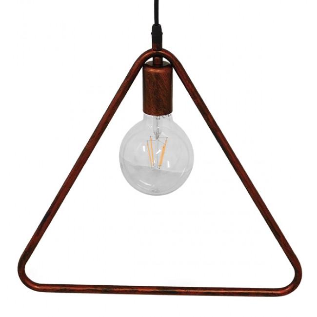 Μοντέρνο Κρεμαστό Φωτιστικό Οροφής Μονόφωτο Καφέ Σκουριά Μεταλλικό  DELTA IRON RUST 01581 - 5