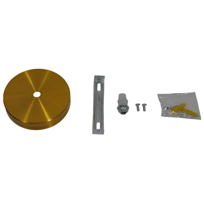 DIY Ροζέτα Φωτιστικού Χρυσή Φ100  90805 - 2