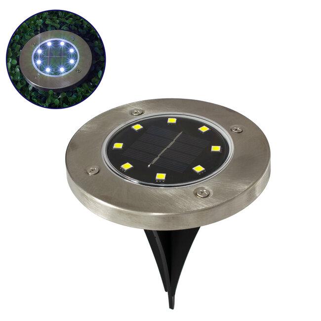 GloboStar® 71504 Αυτόνομο Ηλιακό Φωτιστικό Κήπου LED SMD 3W 200 lm με Ενσωματωμένη Μπαταρία 600mAh - Φωτοβολταϊκό Πάνελ με Αισθητήρα Ημέρας-Νύχτας IP65 Ψυχρό Λευκό 6000k - 2