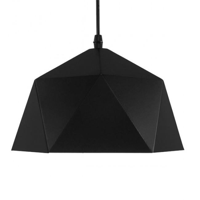 Μοντέρνο Κρεμαστό Φωτιστικό Οροφής Μονόφωτο Μαύρο Χρυσό Μεταλλικό Καμπάνα Φ25  SYLRA 01194 - 3