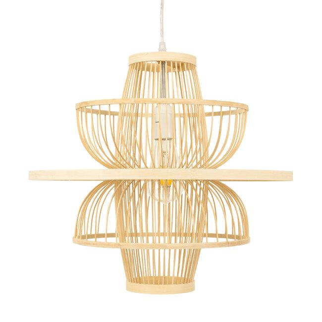 BALI 00861 Vintage Κρεμαστό Φωτιστικό Οροφής Μονόφωτο Μπεζ Ξύλινο Bamboo Φ45 x Y42.5cm - 5