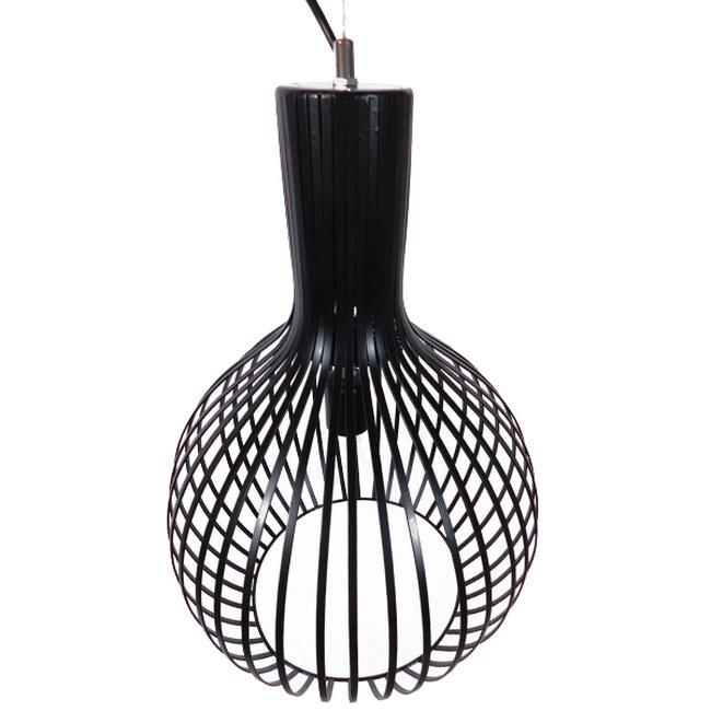 Μοντέρνο Κρεμαστό Φωτιστικό Οροφής Μονόφωτο Μαύρο Μεταλλικό Καμπάνα Φ38  GOBLET DARK 01266 - 3