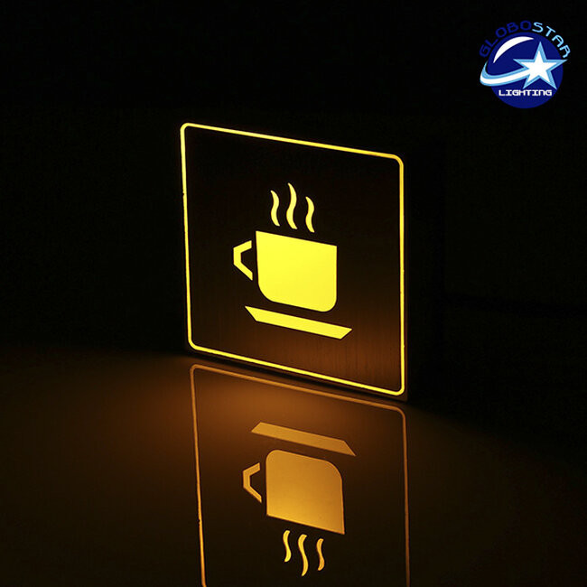 Φωτιστικό LED Σήμανσης Αλουμινίου Καφετέρια GloboStar 75501 - 2