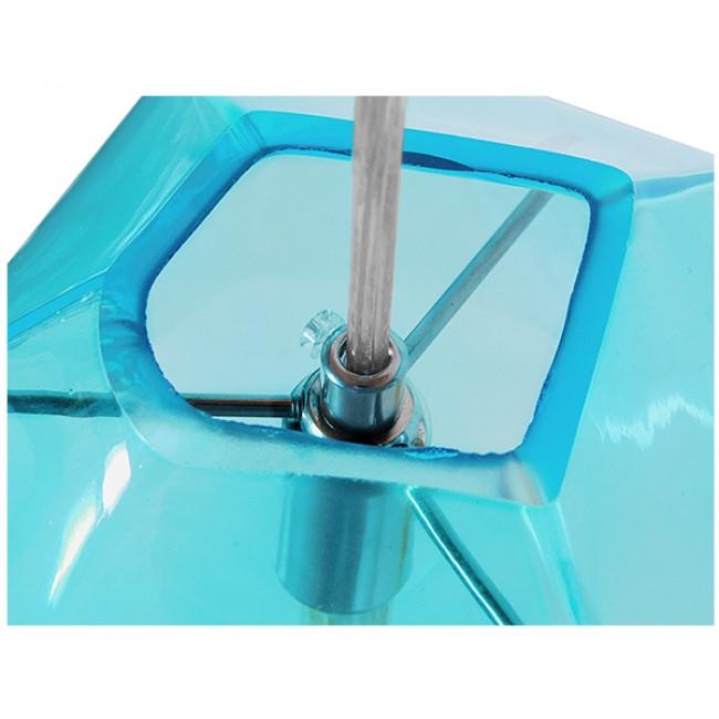 Μοντέρνο Κρεμαστό Φωτιστικό Οροφής Μονόφωτο Γυάλινο Γαλάζιο Διάφανο GloboStar LACRIMA 01306 - 5