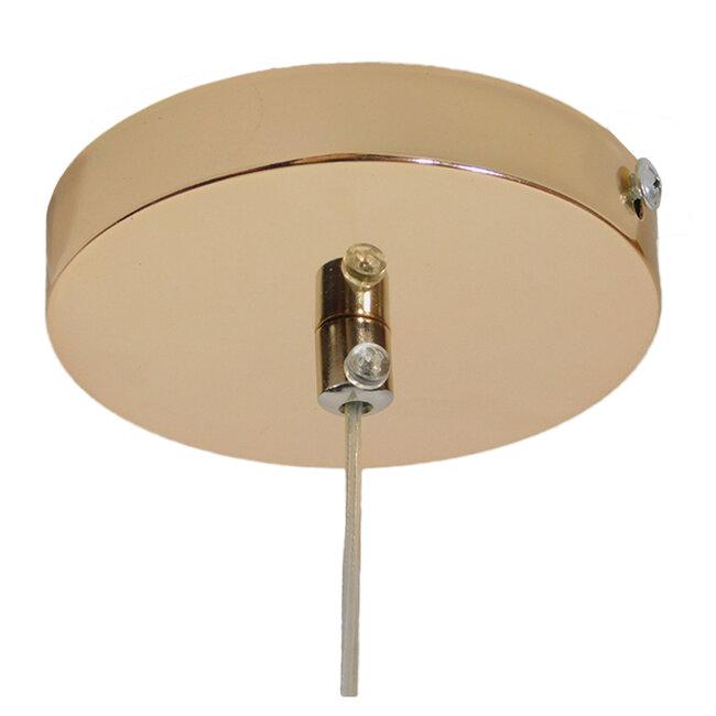 Μοντέρνο Κρεμαστό Φωτιστικό Οροφής Μονόφωτο LED Χάλκινο με Φυσητό Γυαλί  JADORE 01232 - 9