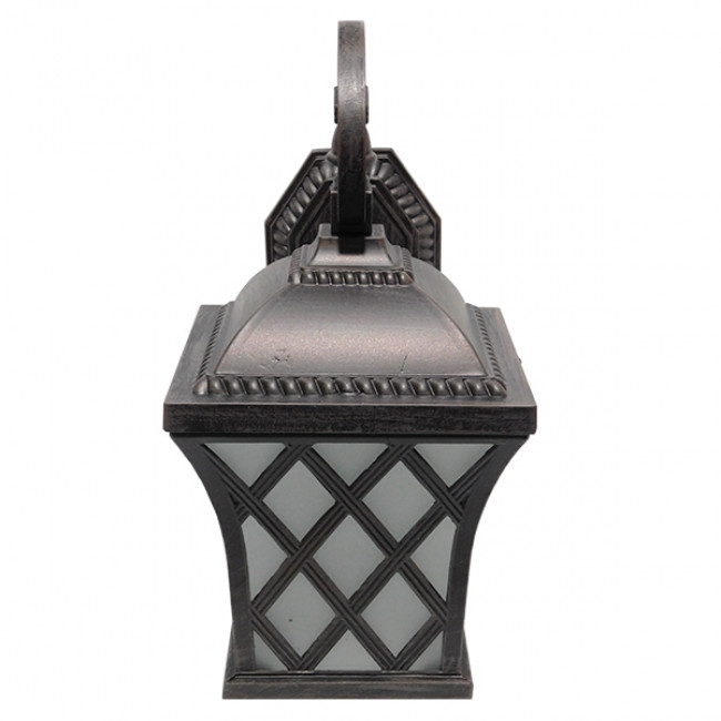 Vintage Φωτιστικό Τοίχου Απλίκα Μονόφωτο Μπρονζέ Μεταλλικό Πλέγμα GloboStar LELIA 01251 - 2