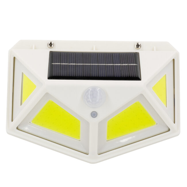 GloboStar® 71497 Αυτόνομο Ηλιακό Φωτιστικό LED COB 10W 1000lm με Ενσωματωμένη Μπαταρία 1200mAh - Φωτοβολταϊκό Πάνελ με Αισθητήρα Ημέρας-Νύχτας και PIR Αισθητήρα Κίνησης IP65 Ψυχρό Λευκό 6000K - 6