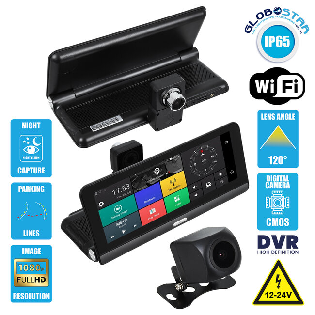86060 DVR FHD1080p Καταγραφικό Οχημάτων Smart με Οθόνη 8