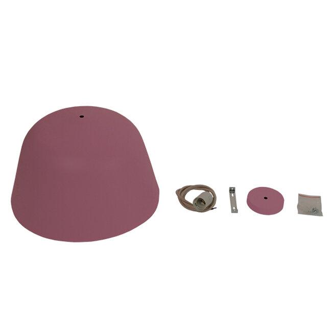 Μοντέρνο Κρεμαστό Φωτιστικό Οροφής Μονόφωτο Ροζ Μεταλλικό Καμπάνα Φ40  SOUTHVALE 01284 - 9
