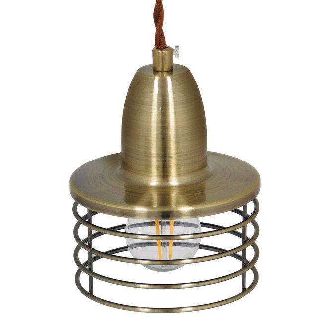 Μοντέρνο Industrial Κρεμαστό Φωτιστικό Οροφής Μονόφωτο Μεταλλικό Μπρούτζινο Καμπάνα Φ11  MANHATTAN BRONZE 01455 - 7